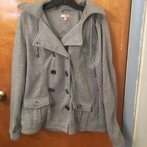 Light Gray pea coat jacket